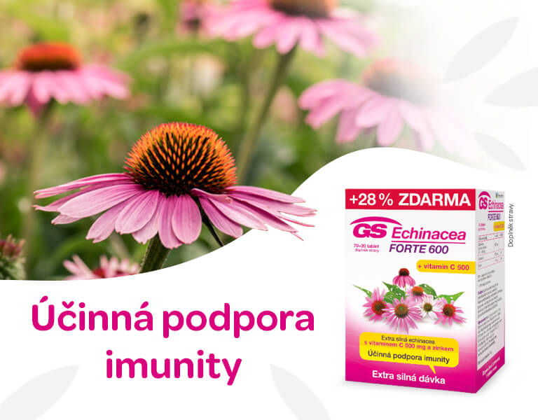 GS Echinacea Forte 600 70+20 tablet, banner