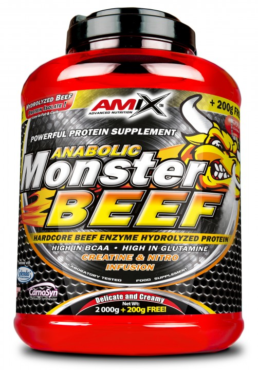 Amix Anabolic Monster BEEF 90% Protein, vanilla-lime, 2200g
