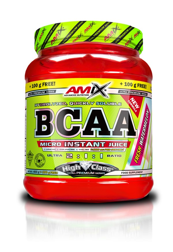 Amix BCAA Micro Instant Juice, green apple, 400+100g