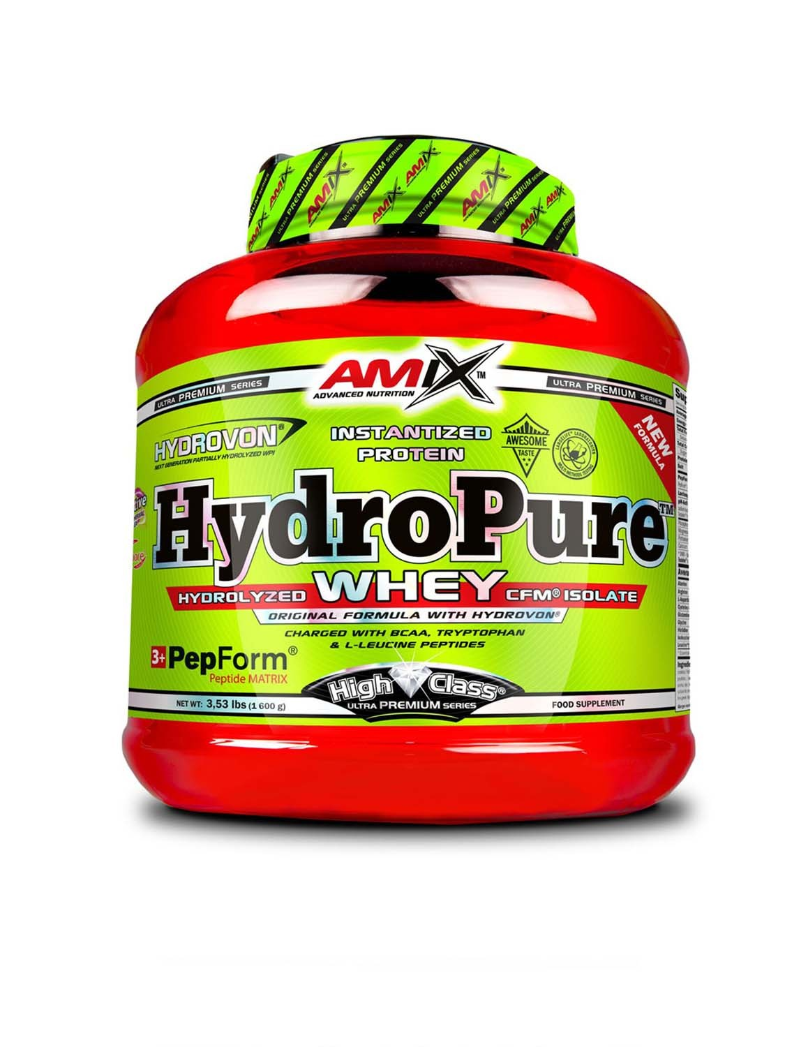 Amix HydroPure Whey Protein, peanut butter cookies, 1600g