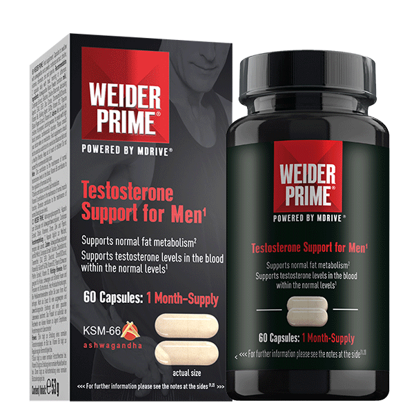 Weider Prime Testosterone Support for Men 60cps