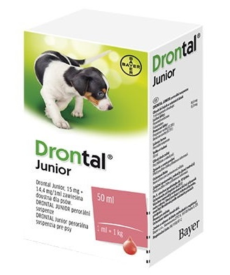 Fotografie DRONTAL JUNIOR A.U.V. SUS 50ML+APLIKÁTOR