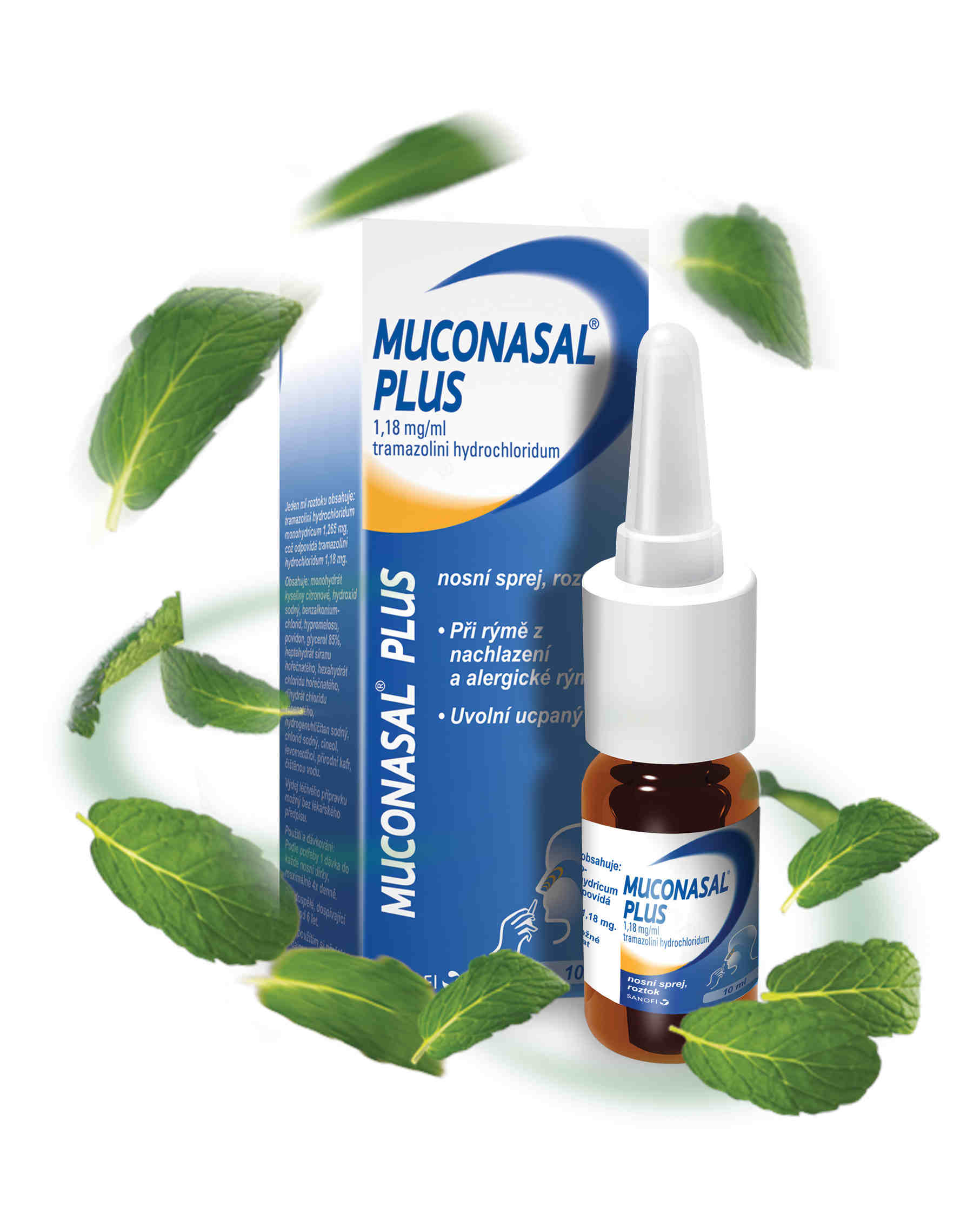 Muconasal® Plus 1.18mg/ml nosní sprej 10ml