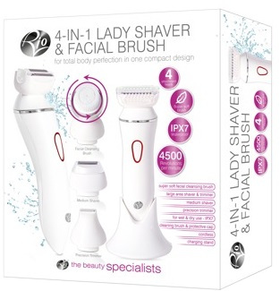 RIO 4 IN 1 LADY SHAVER & FACIAL BRUSH