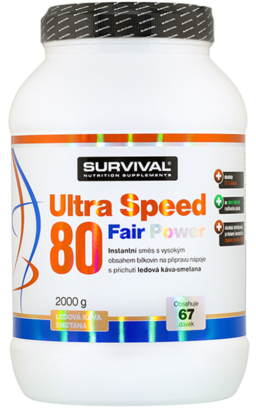 Survival Nutrition  Ultra Speed 80 Fair Power ledová káva-smetana 2000g