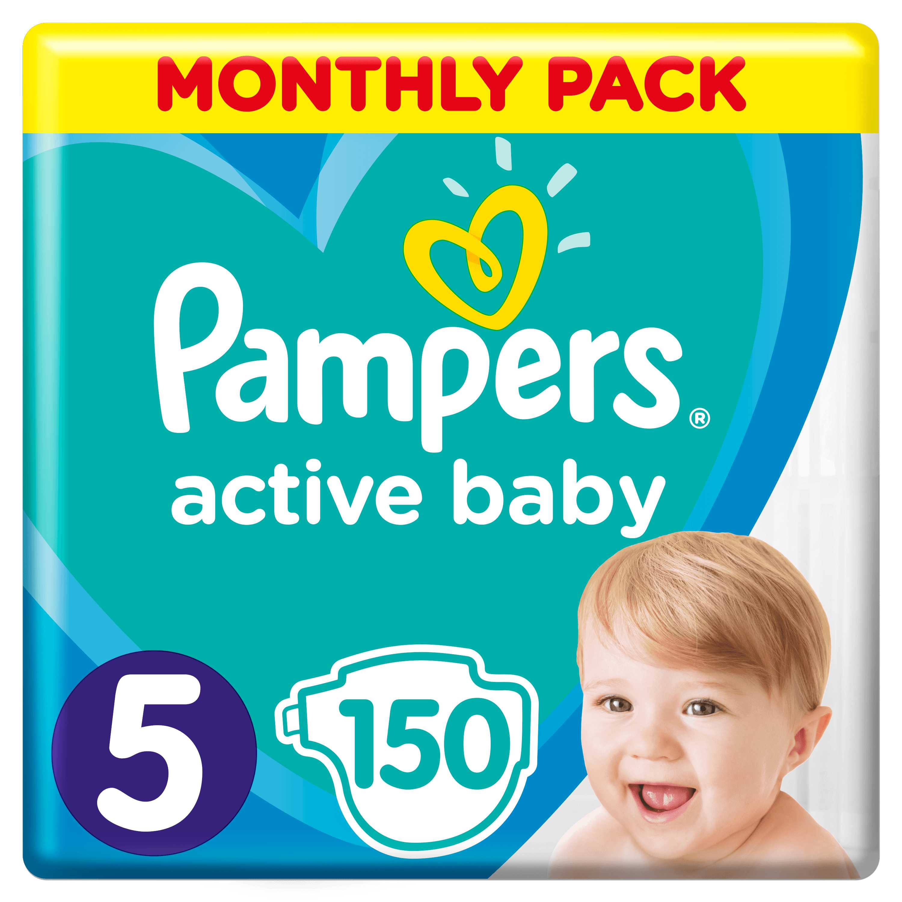 Pampers Active Baby S5 150ks, 11-16kg