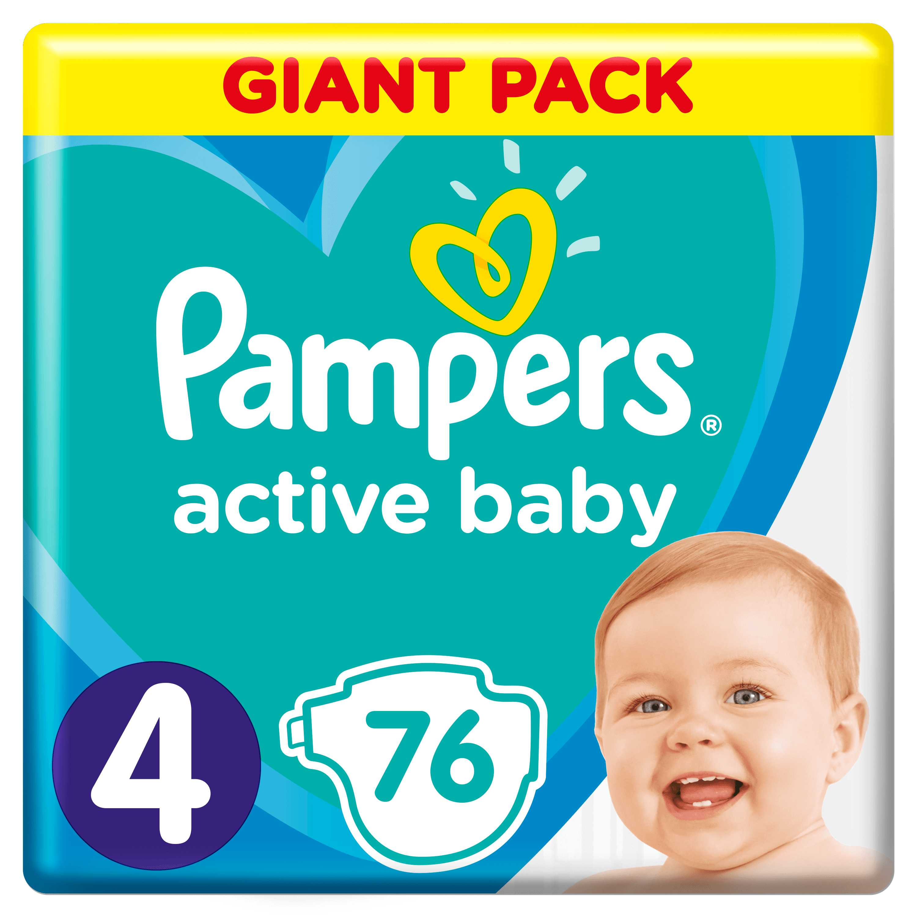 Pampers Active Baby S4 76ks, 9-14 kg