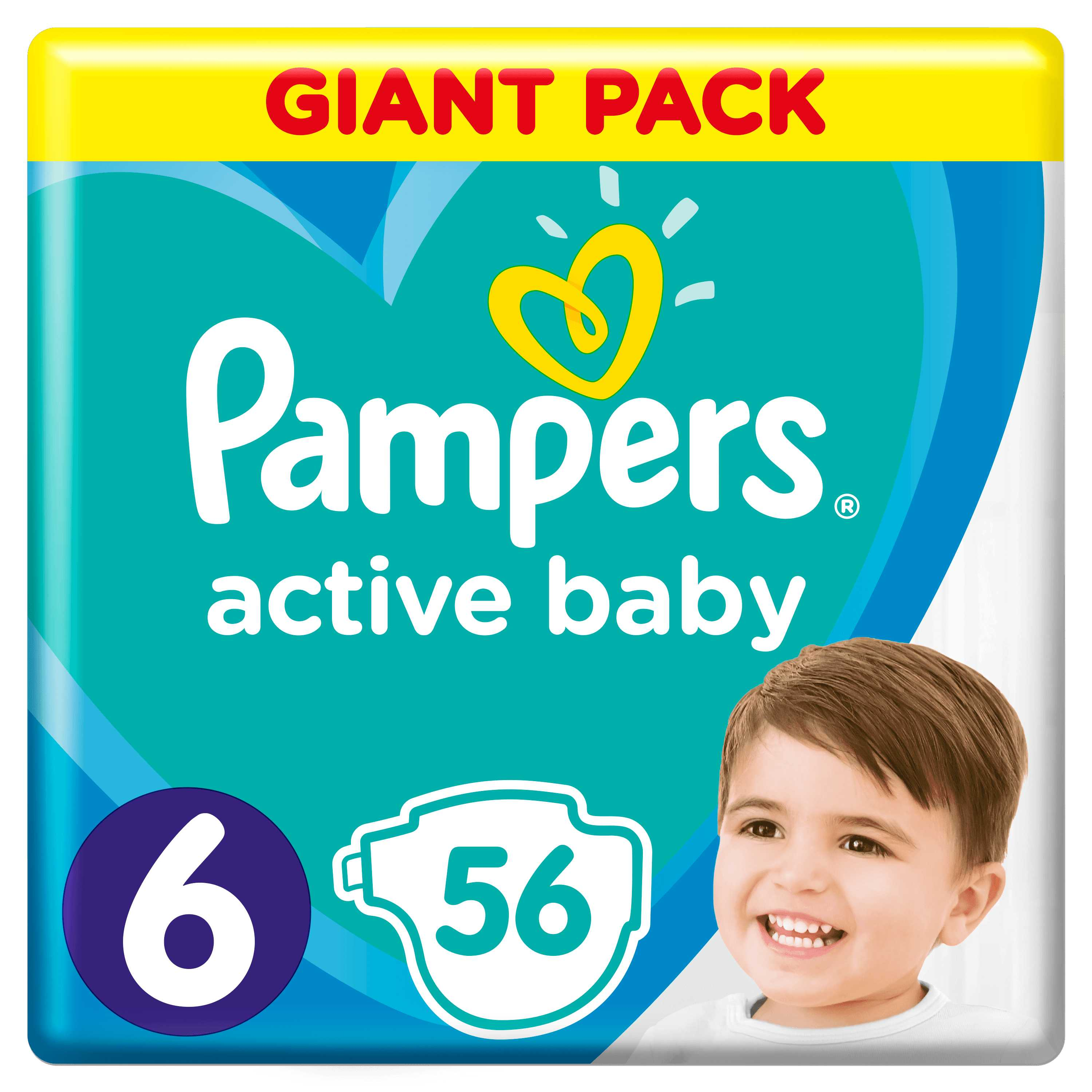Pampers Active Baby S6 56ks, 13-18kg