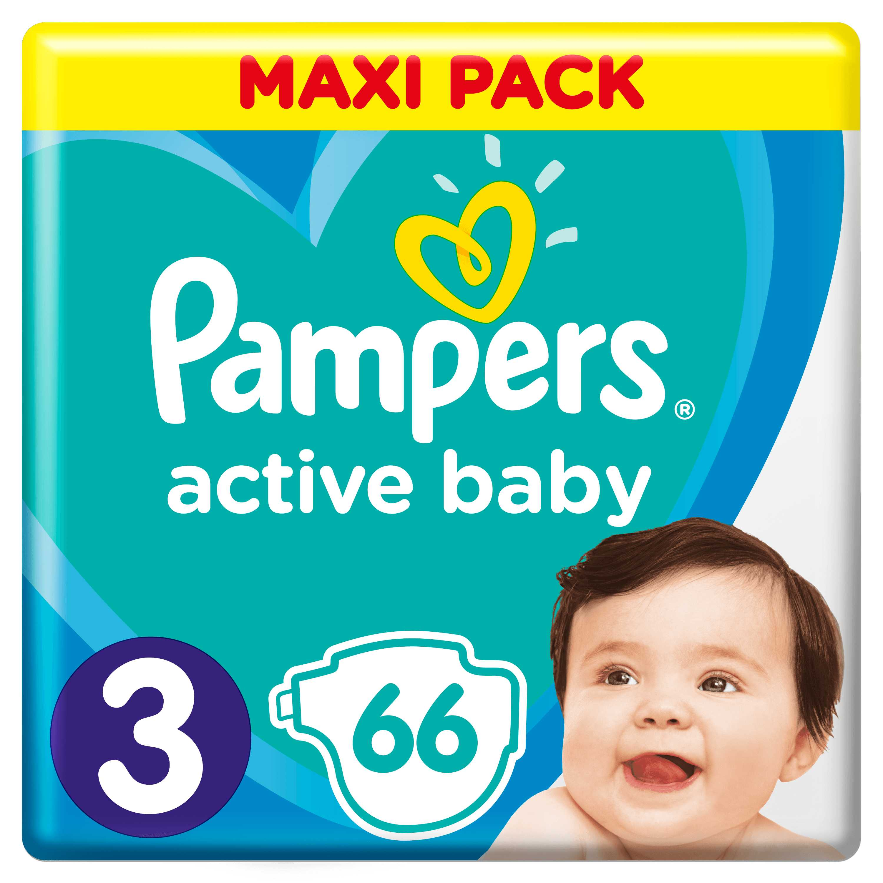 Pampers Active Baby S3 66ks, 6-10 kg