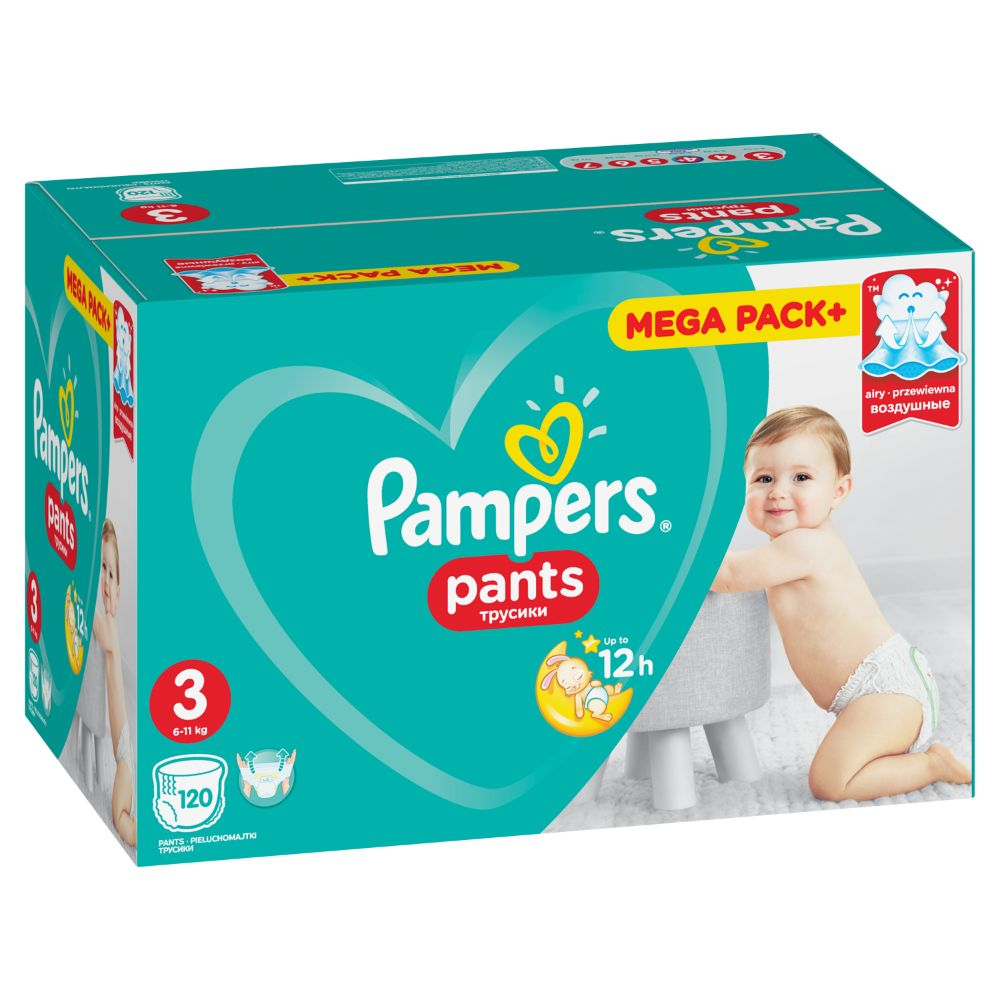 Pampers Pants S3 120ks, 6-11kg