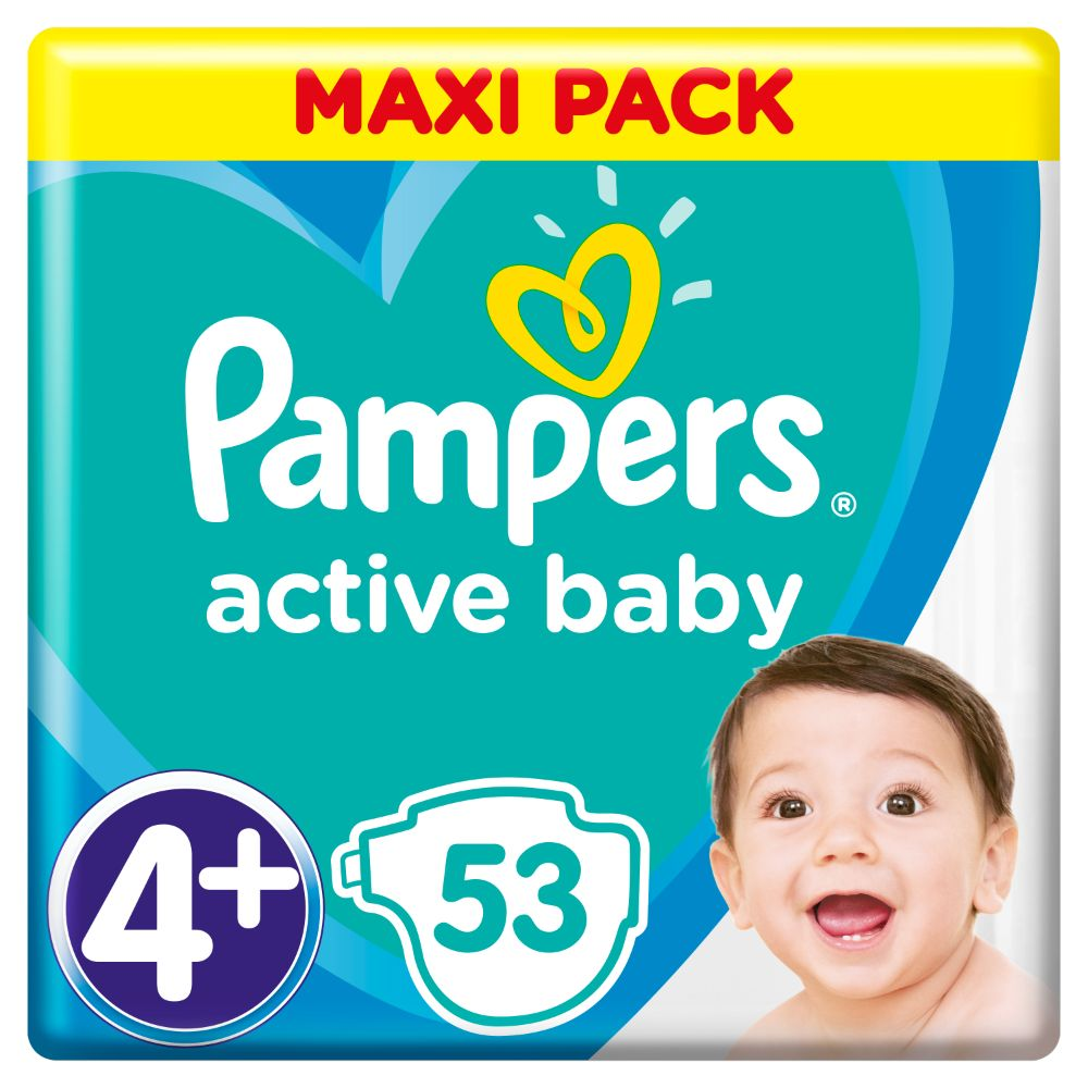 Pampers Active Baby S4+ 53ks, 10-15kg