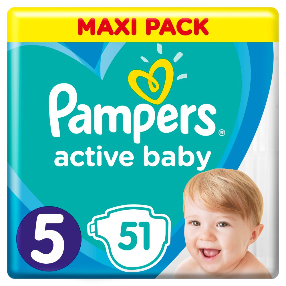 Pampers Active Baby S5 51ks, 11-16kg