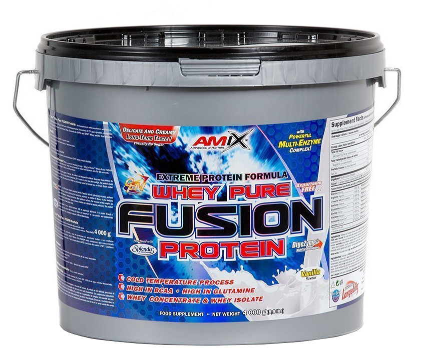 Amix Whey Pure Fusion Protein, Double White Chocolate, 4000g