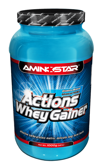 Aminostar Whey Gainer Actions, Strawberry, 4500g