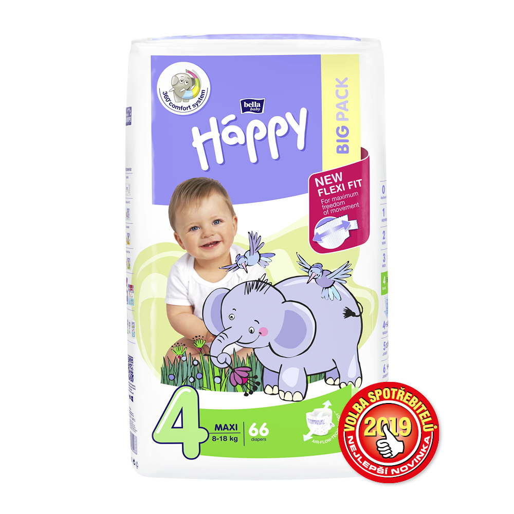Bella Baby Happy Maxi Big Pack8-18kg 66ks