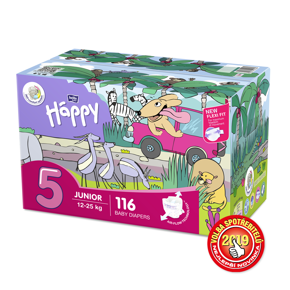 Bella Baby Happy Junior Box 12-25kg 2x58ks