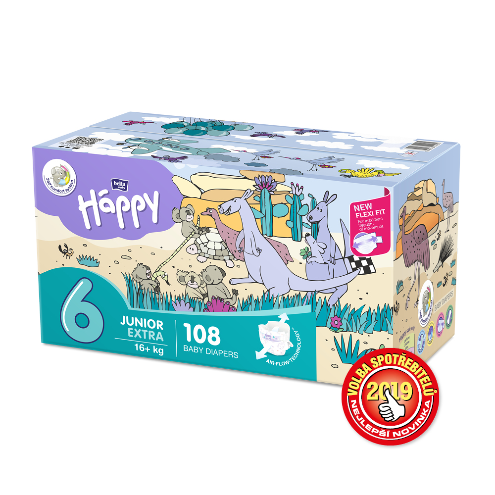 Bella Baby Happy Junior Extra Box 16+ 2x54ks