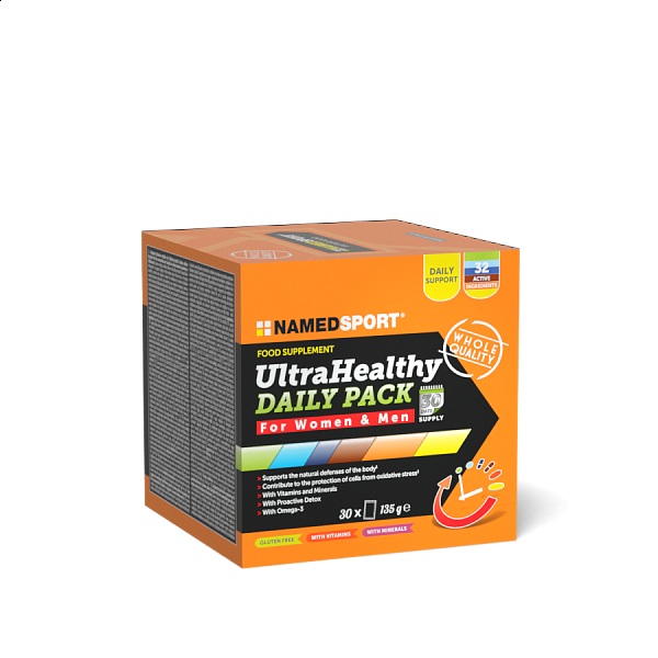 NAMEDSPORT Ultra Healthy DAILY PACK, 30 sáčků, MULTIVITAMÍN S MINERÁLY