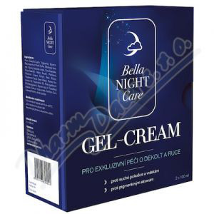 D-med Bella night Care Gel-Cream na dekolt a ruce 2x100ml