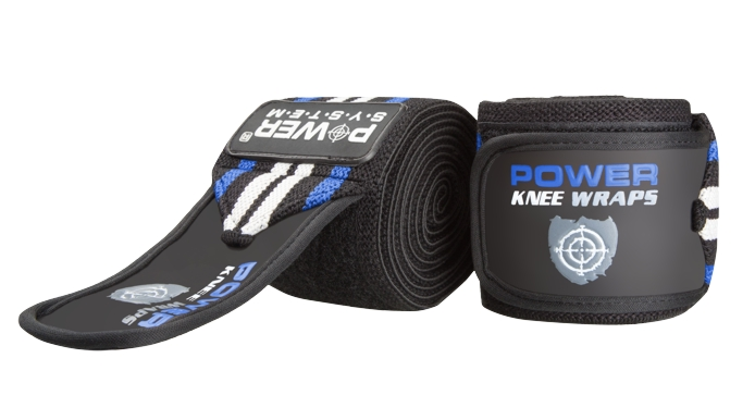 Power System bandáže na kolena KNEE WRAPS BLUE 2ks