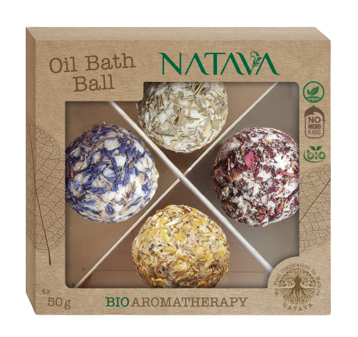 Natava Oil Bath Balls Mix 4x50g