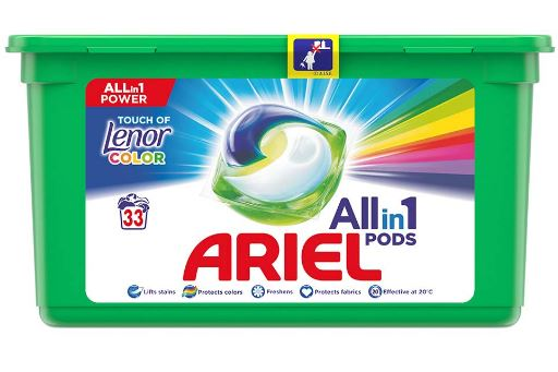 Ariel Touch of Lenor Color Gelové kapsle 33ks
