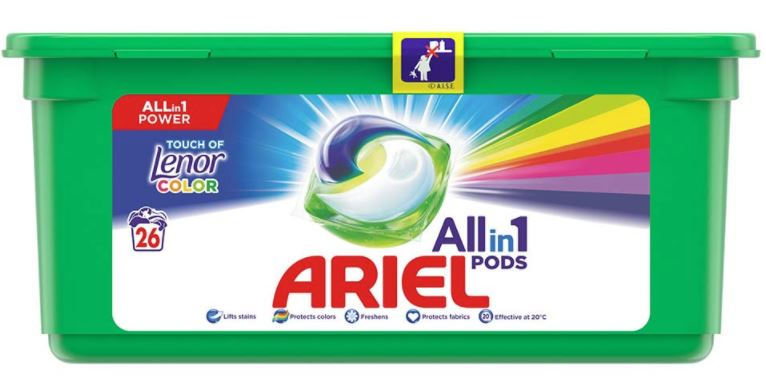 Ariel Touch of Lenor Gelové kapsle 26ks