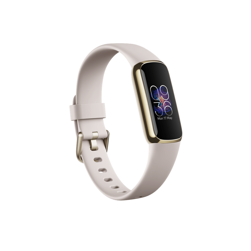 Fitbit Luxe Fitness náramek Soft Gold/White