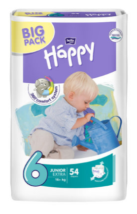 Bella Baby HAPPY Junior extra Big Pack á 54 ks Pilulka.cz